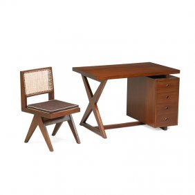Pierre Jeanneret Chandigarh Desk And Chair
