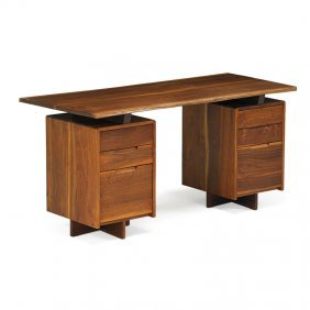 George Nakashima Double Pedestal Desk