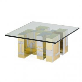 Paul Evans; Directional Cityscape Coffee Table