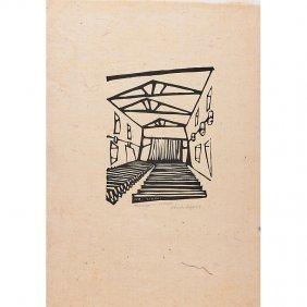 Wharton Esherick Five Woodblock Prints
