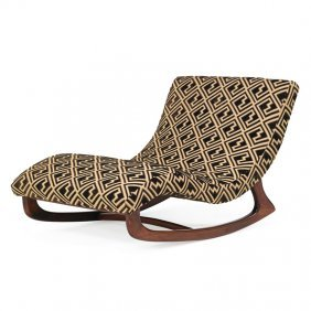 Adrian Pearsall; Craft Associates Rocking Chaise