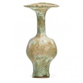 Lucie Rie Glazed Stoneware Flaring Vase