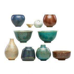 Saxbo Ten Miniature Vessels