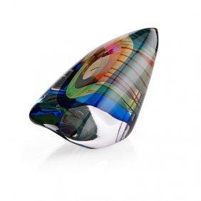 Harvey Littleton Glass Sculpture