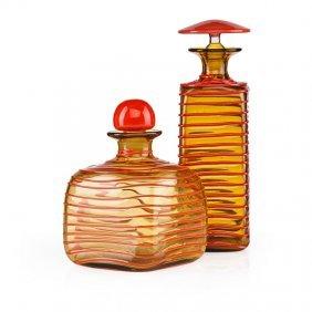 Paolo Venini; Venini Two Bottles