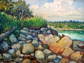 ELMER STANLEY HADER (AMERICAN 1889-1973), OIL ON CANVAS