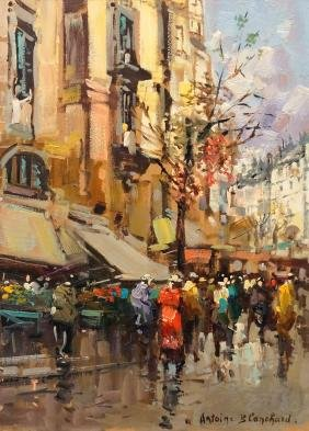 ATTRIBUTED TO ANTOINE BLANCHARD (FRENCH 1910-1988) OIL