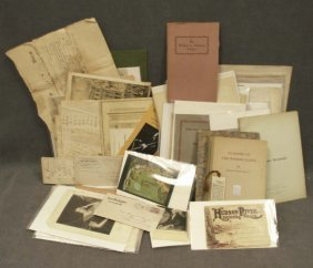 BOX ASSORTED VINTAGE EPHEMERA INCLUDING LETTERS