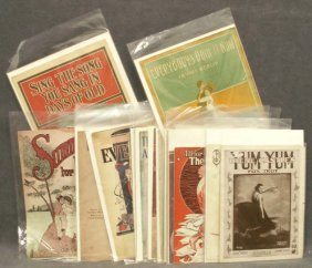 LOT (37) ASSORTED VINTAGE SHEET MUSIC