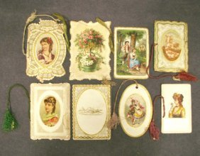LOT (8) ASSORTED PROGRAMS & DANCE CARDS 1871-1872
