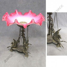 VICTORIAN WINGED HORSE BASE CENTERPIECE