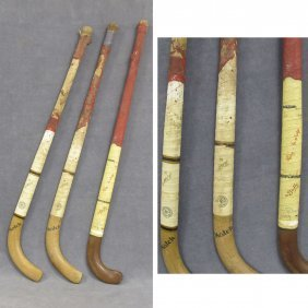 LOT (3) VINTAGE FIELD HOCKEY STICKS