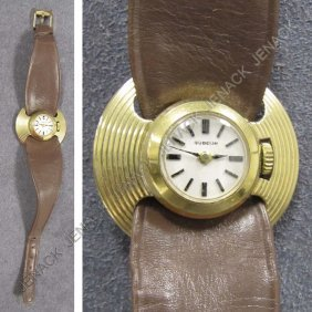 .750 GOLD GUBELIN LADY'S 17-JEWEL WRISTWATCH