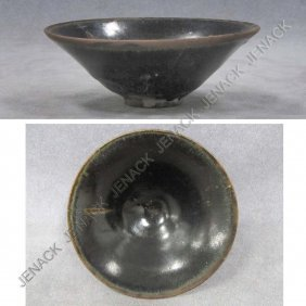 CHINESE GLAZED BLACKWARE BOWL, SUNG