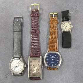 LOT (4) ASSORTED VINTAGE WRISTWATCHES