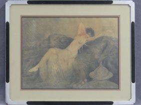 Louis Icart (france/ny 1888-1950), Original Watercolor,