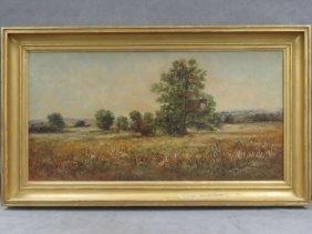 Edward Gay (american 1837-1928) Oil On Canvas, Field In