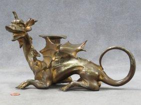Renaissance Style Victorian Gilt Metal Dragon