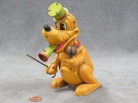 Linemar Pluto Litho Tin Mechanical Band Leader Toy.