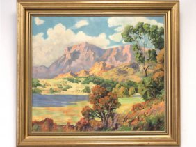 American School (19/20th Century) Oil On Canvas,
