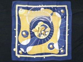 """Hermes Silk Scarf, """"swing"""", Designed By Julia Abadie,"""