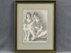 Moses Soyer (american/ny 1899-1987), Lithograph,