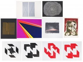 Lot (10) Abstract Lithographs And Serigraphs Including