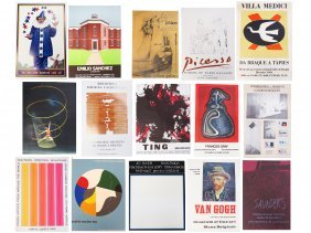 Lot (17) Exhibition Posters, Most 1960's/1970's
