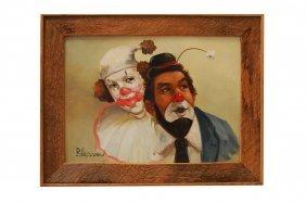 Earl Blooms (american 1891-1970), Oil On Canvas, Pair