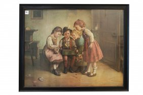 Edmund Adler (german 1876-1965), Offset Print, Children