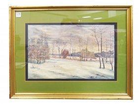 Stanislaw Zukowski (poland 1873-1944), Watercolor,