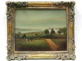 After Frederick Rondel (american 1826-1892), Oil On