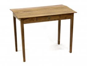 Continental Fruitwood Slant-top Desk With Drawer, 19th