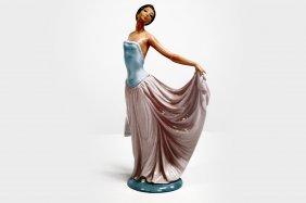 "Lladro Porcelain Figure, ""dancer"", #5050. Height 11"