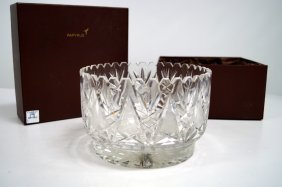 "Waterford Style Cut Crystal Bowl. Height 5 1/4"";"