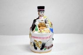 Vebilki Dmitrov Soviet Porcelain Decanter, Signed,