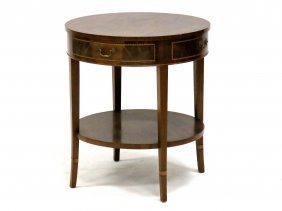 """Regency Style Inlaid Mahogany Stand. Height 28""""; Width"""