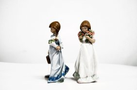 Lot (2) Lladro Collector Society Porcelain Figures,