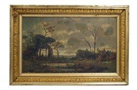 American School (19th Century) Oil On Canvas Board,