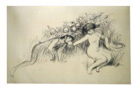 Jean Veber (french 1864-1928), Lithograph, Le Souvenir