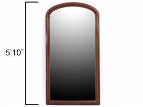 "Victorian Carved Walnut Framed Pier Mirror. Height 70"";"