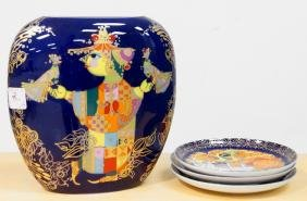 LOT (4) ROSENTHAL STUDIO-LINE DECORATED PORCELAIN BY