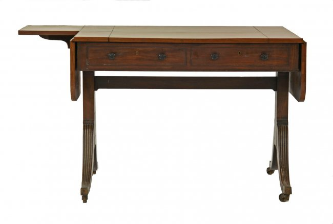 A Regency mahogany sofa table with an unusual hinged  : 271910282l from liveauctioneers.com size 650 x 438 jpeg 18kB