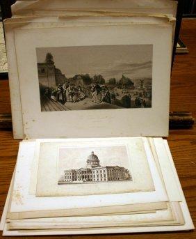 ~90 Lithos & Engravings: Landmarks In DC, NY, Phi