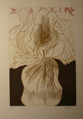Boykin Color Etching: ''Baskin,'' Pencil Sgd, 48/13