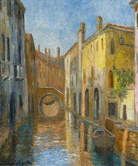 Hildegarde Hume Hamilton Venetian Waterway Scene.
