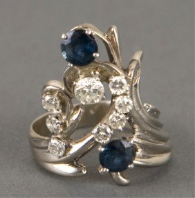 Diamond And Sapphire Ring.