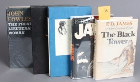 5 Books By John Fowles, Peter Benchley, Others.