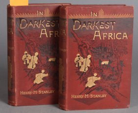Stanley. IN DARKEST AFRICA, 2  Vols, 1st Trade Ed.