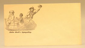 "2 Civil War Postal Covers W ""john Bull's Sympathy"""